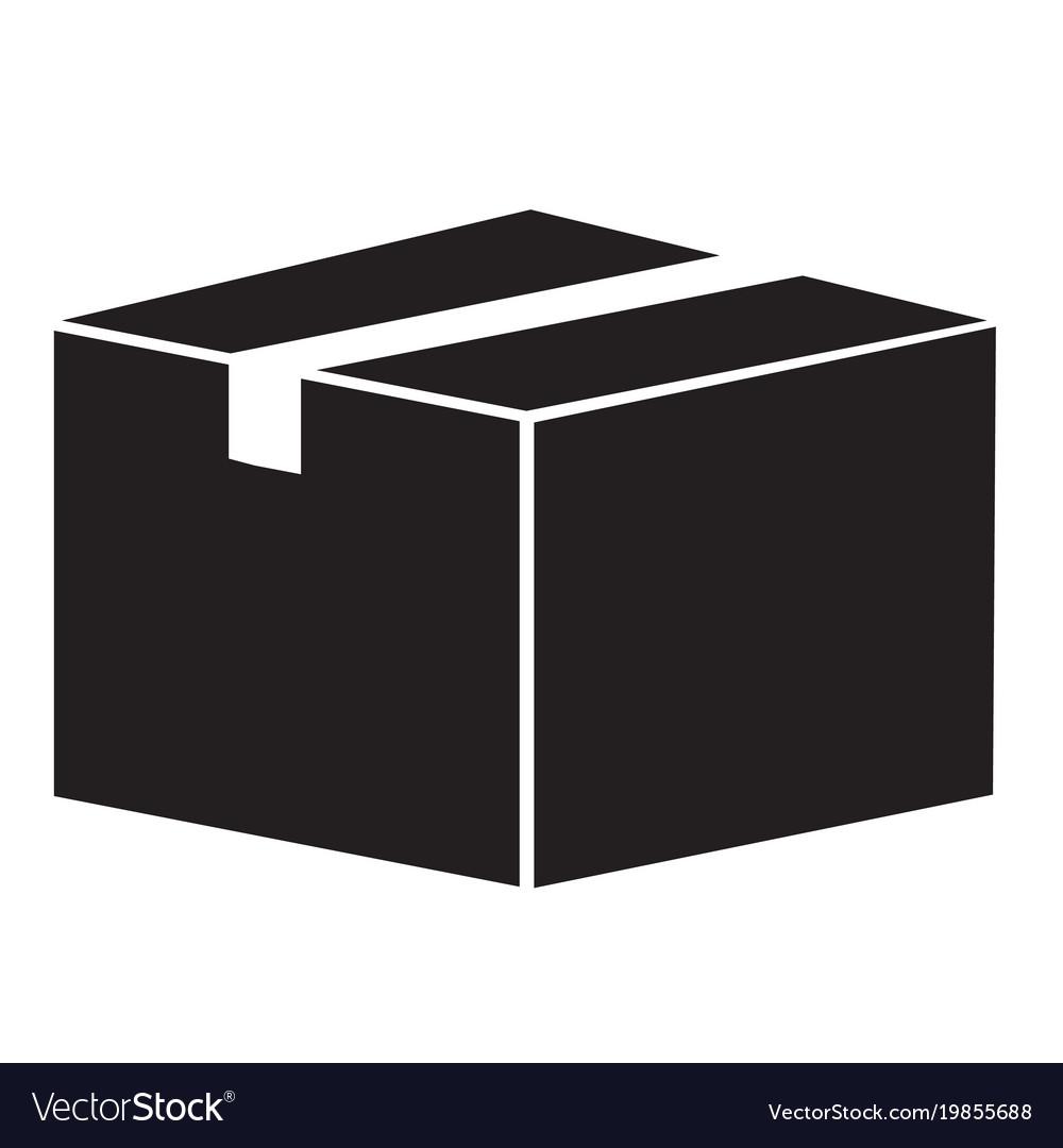 Box icon on white background box sign flat vector image