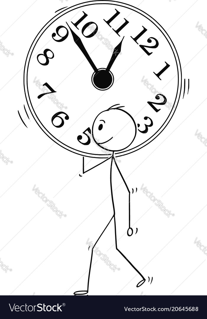 Cartoon of man or businessman carry big wall clock cartoon of man or businessman carry big wall clock vector image ccuart Image collections