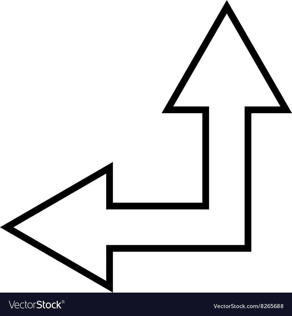 Choice Arrow Left Up Outline Icon