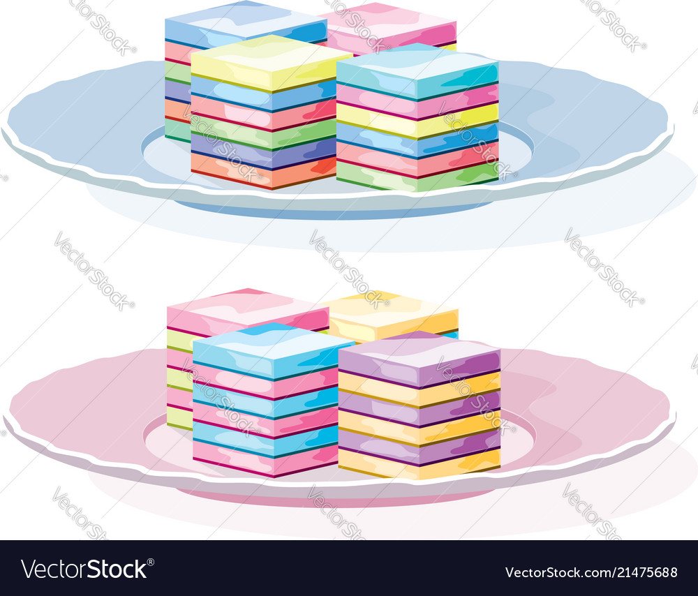 Colorful gelatin dessert on a plate