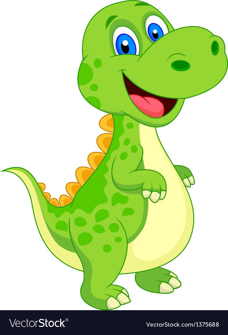 Image of: Rex Cute Dinosaur Cartoon Vector Image Vectorstock Cute Dinosaur Cartoon Royalty Free Vector Image