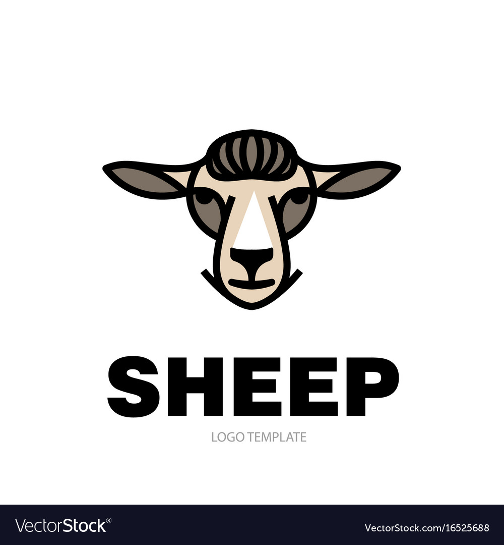 Drawing head of sheep Royalty Free Vector Image