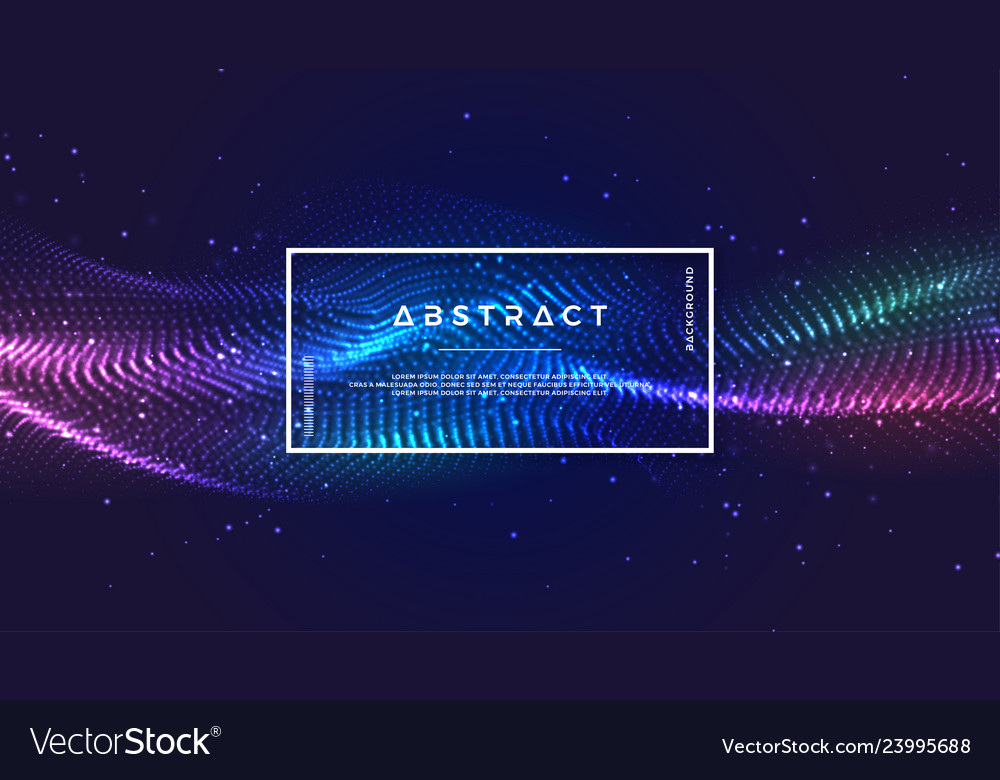 Dynamic abstract liquid flow particles background
