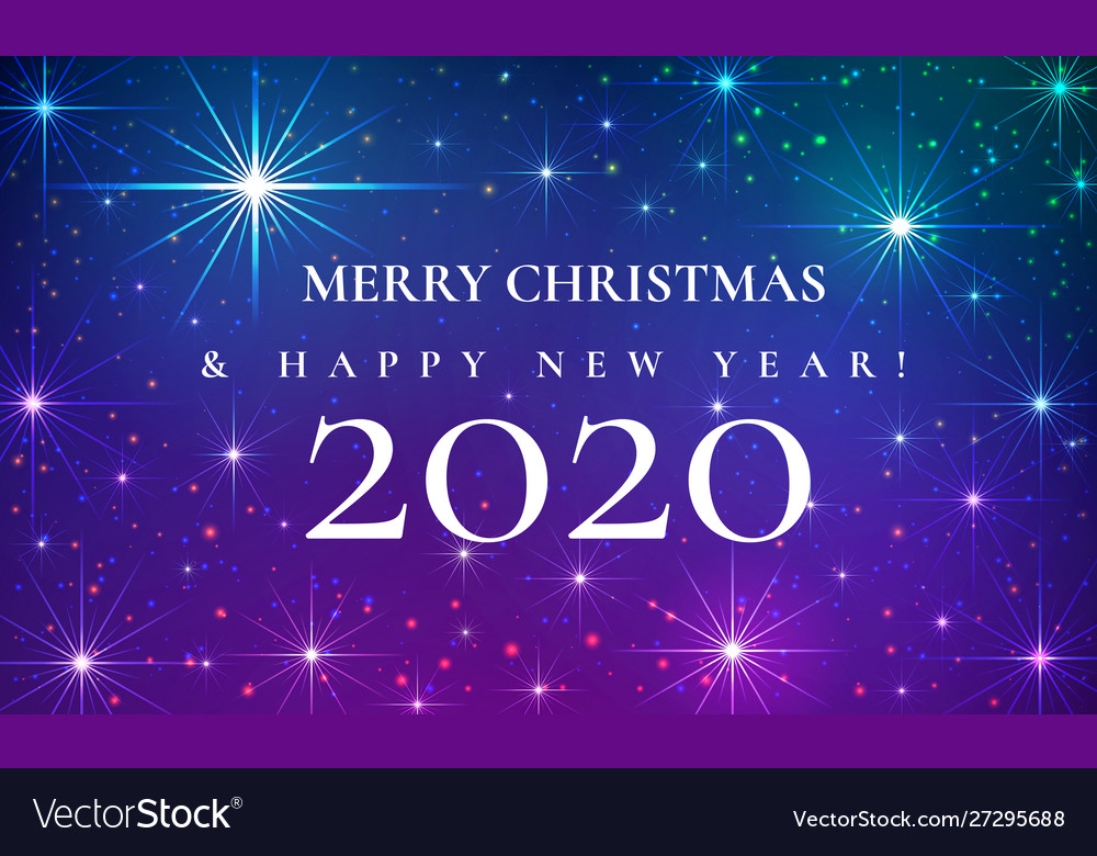 Merry christmas and happy new year 2020 beautiful Vector Image
