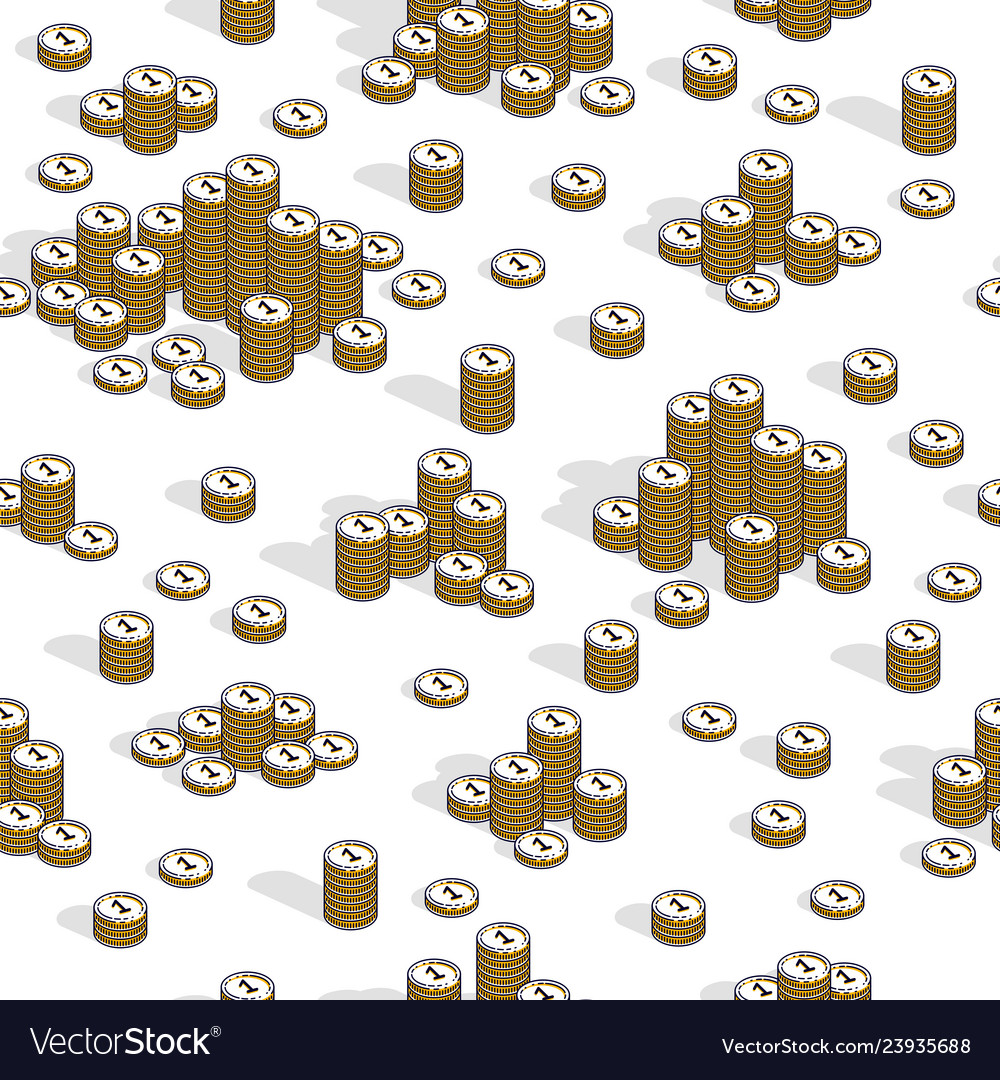 Money coins seamless background backdrop for