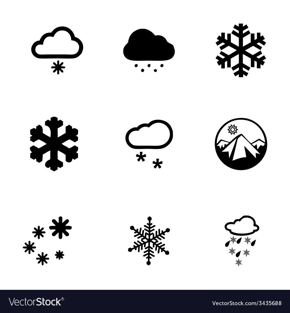 Snow icon set