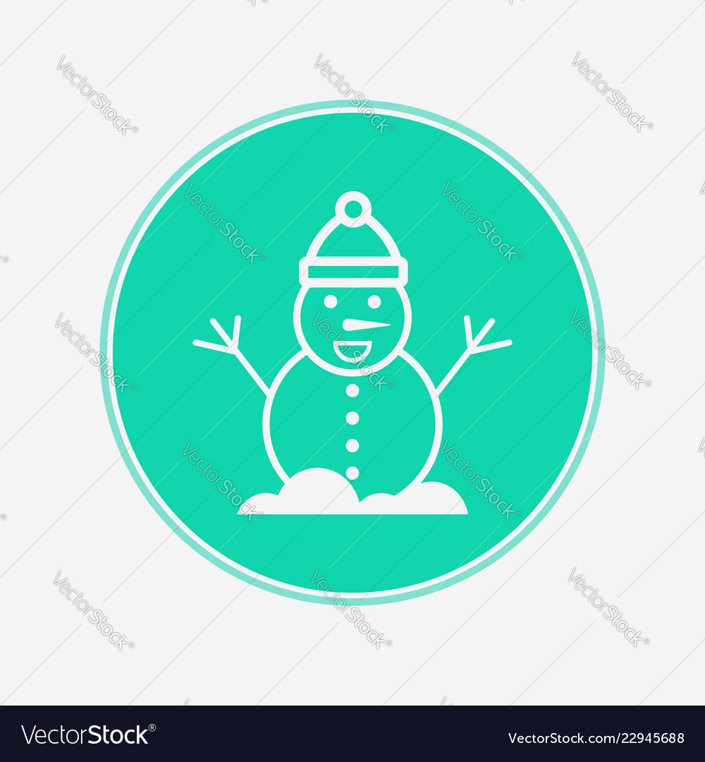 Snowman icon sign symbol