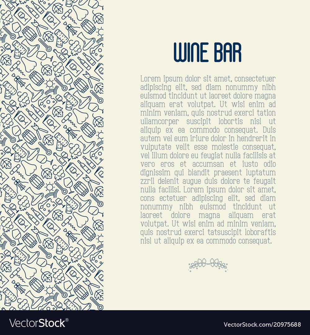 Wine bar concept for restaurant menu