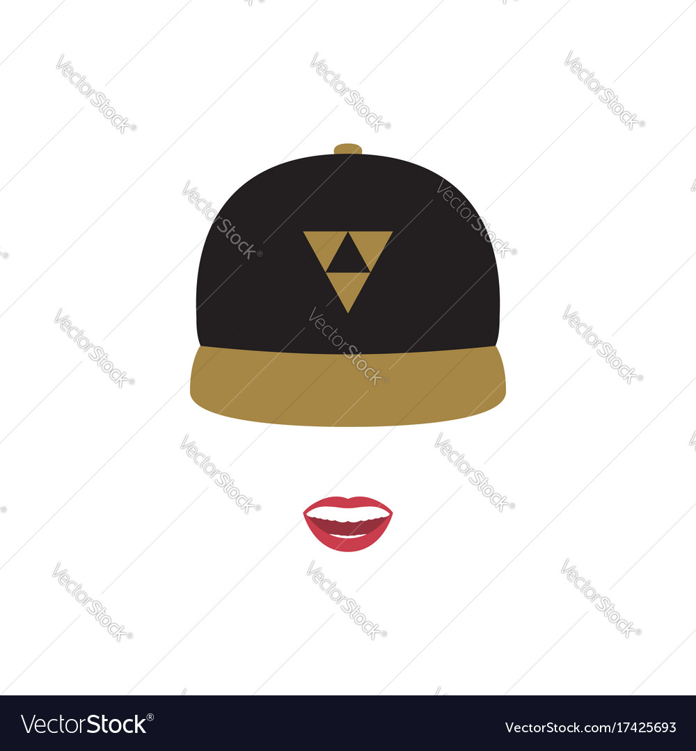 A girl in a baseball cap