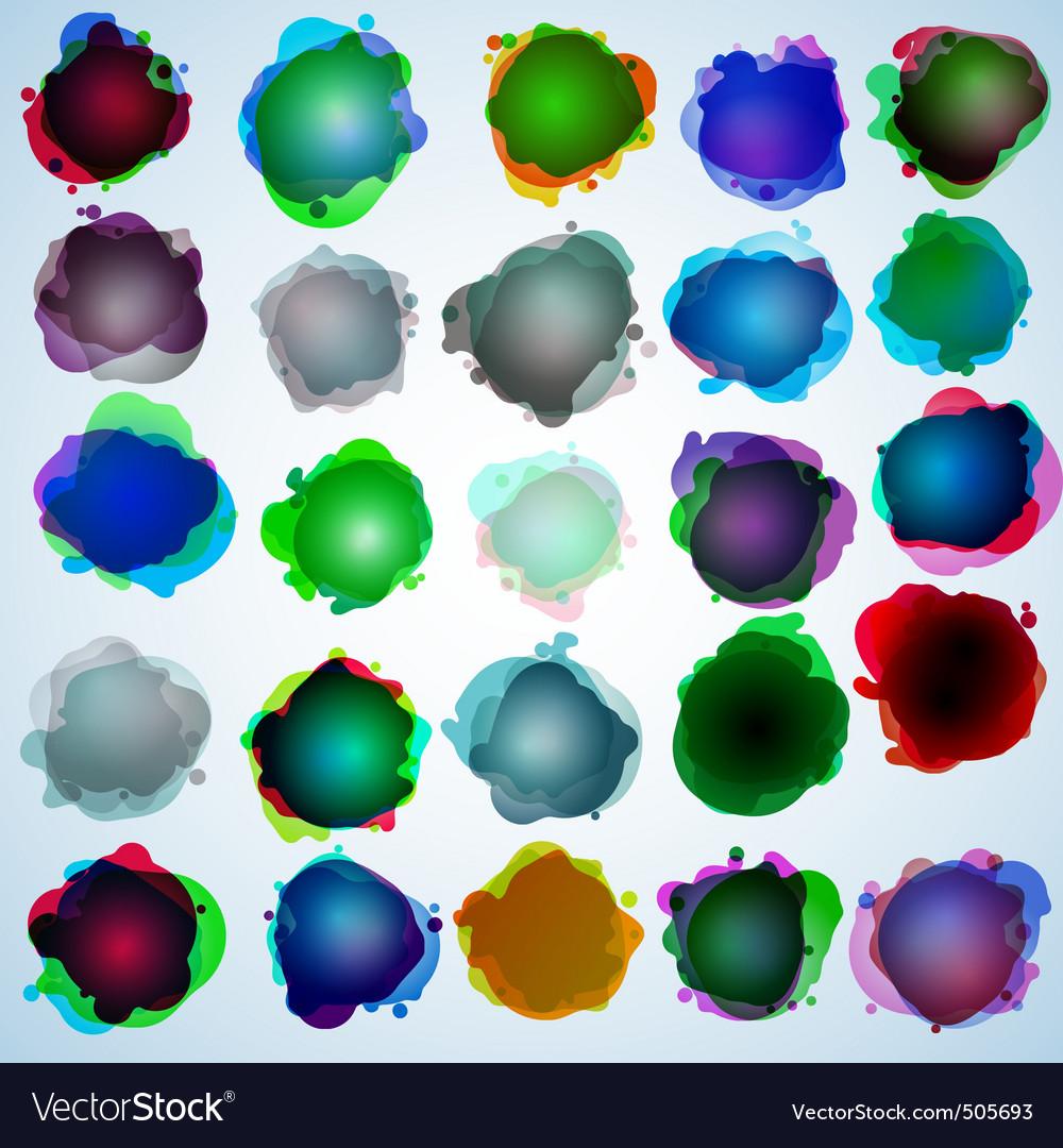 Color speech bubbles collection eps 10