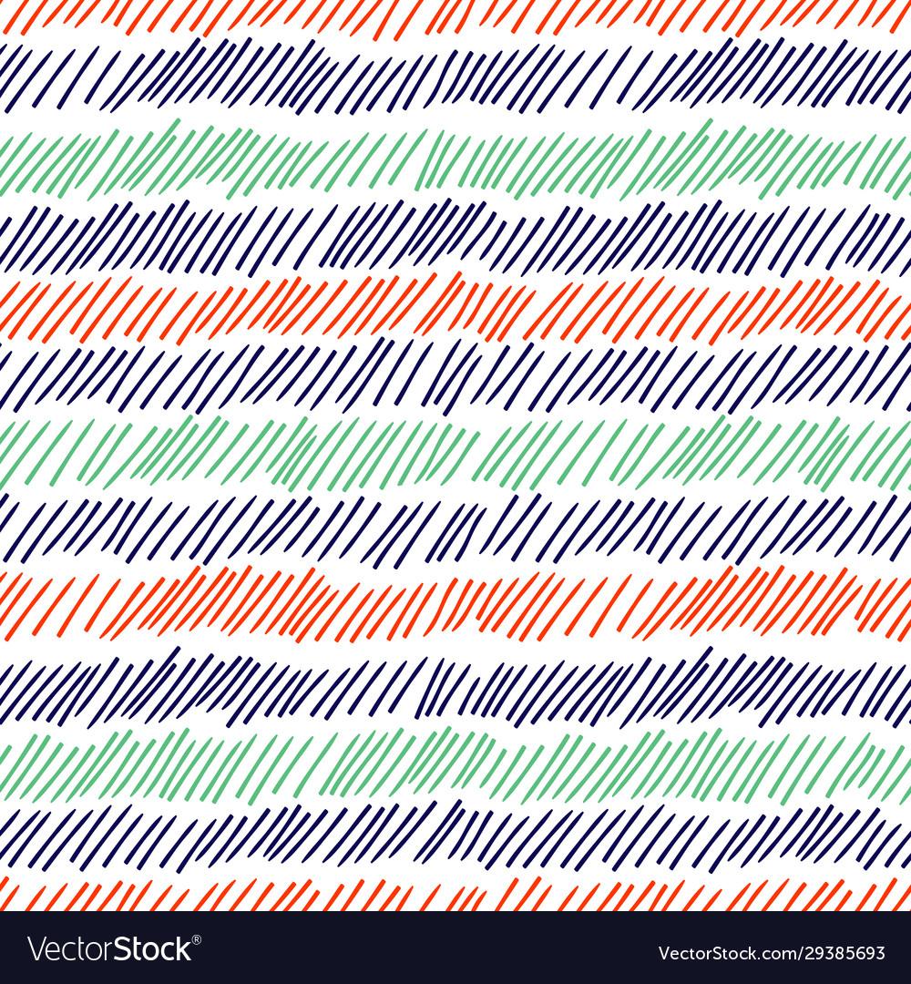 Hatching seamless pattern pencil drawn lines