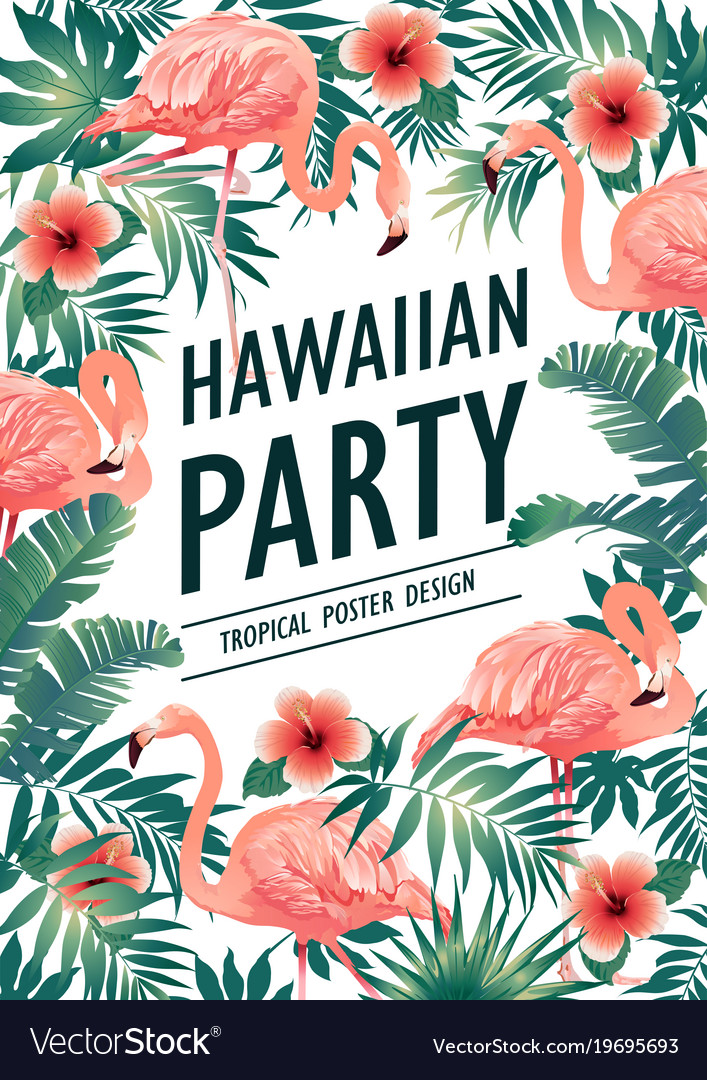 hawaiian party vector 19695693