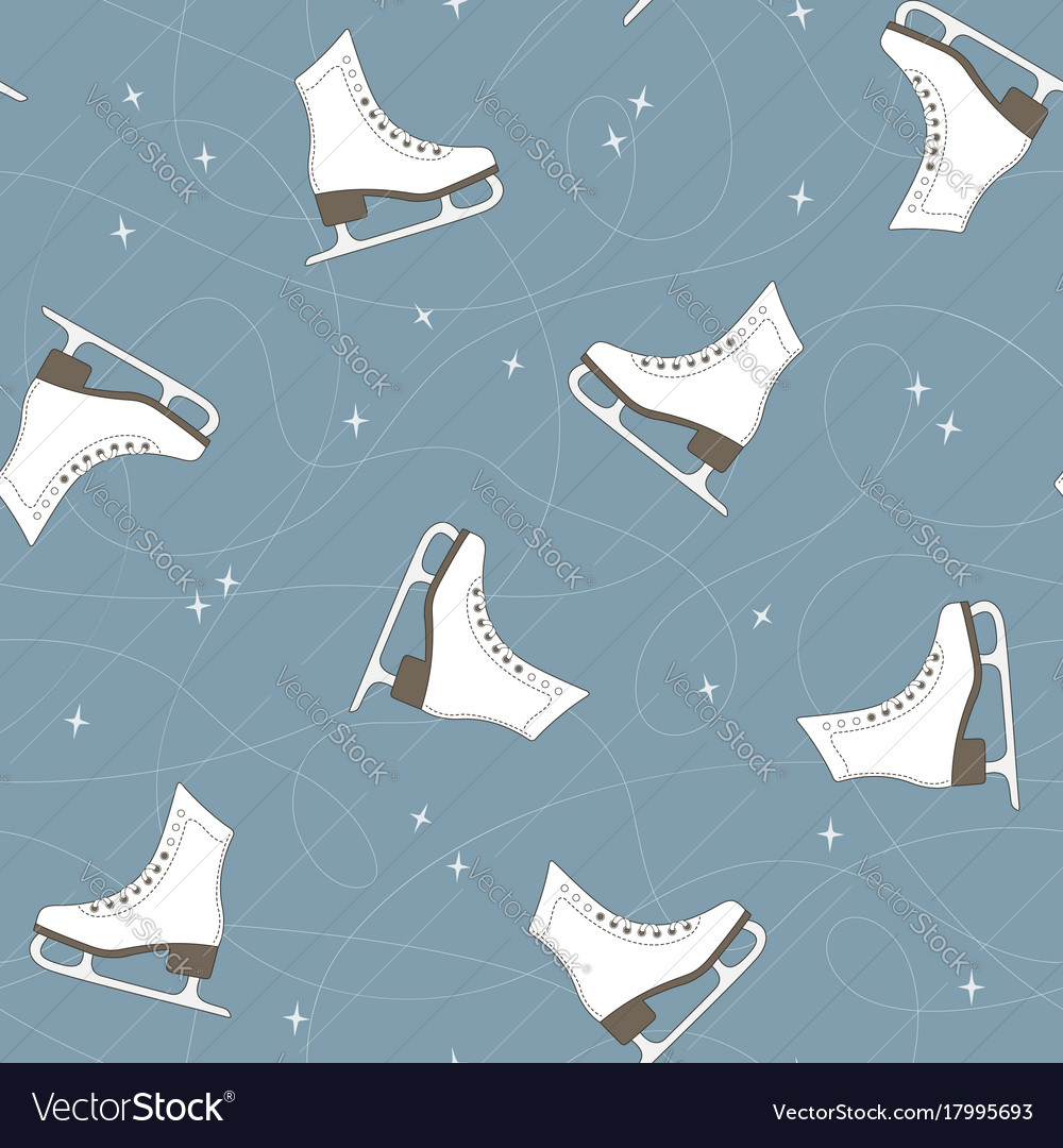 Ice skates seamless background