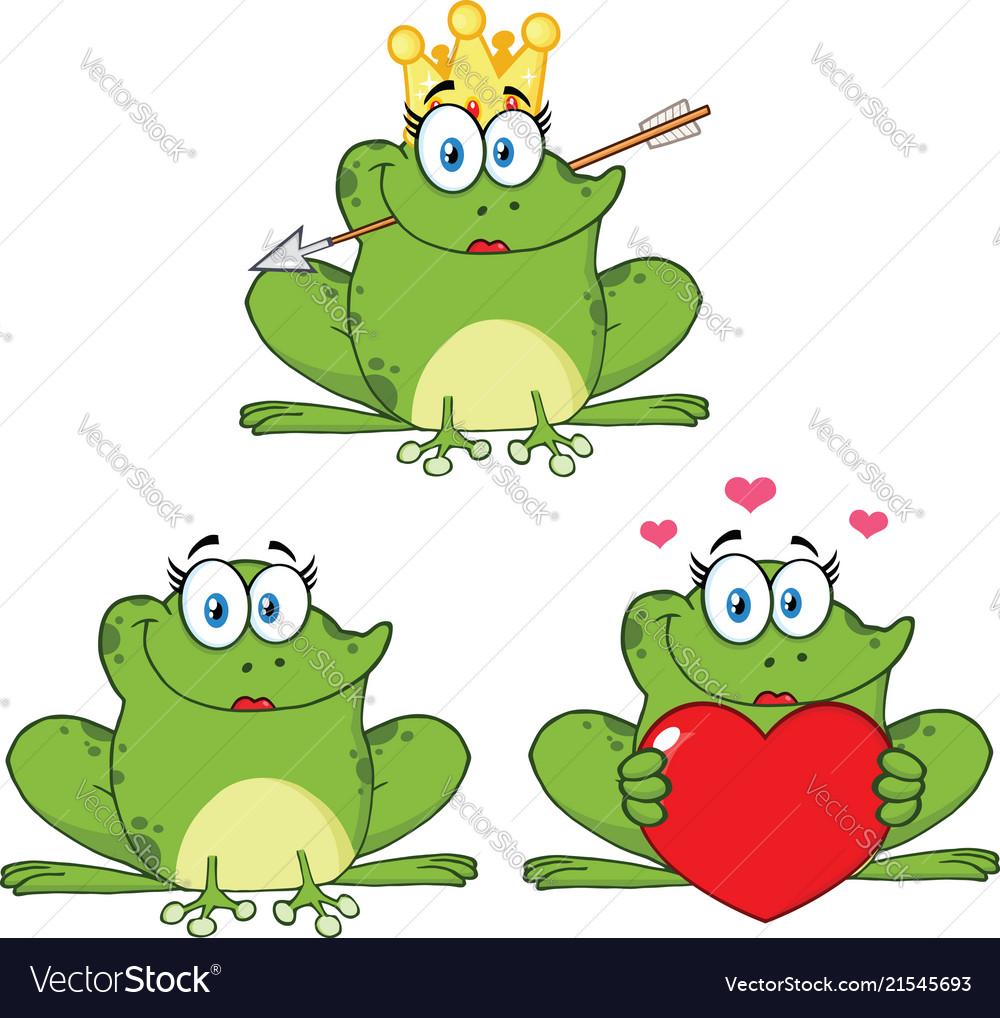 Princess frog cartoon character 1 collection set
