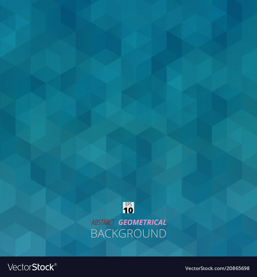 Abstract background of blue gradient geometric