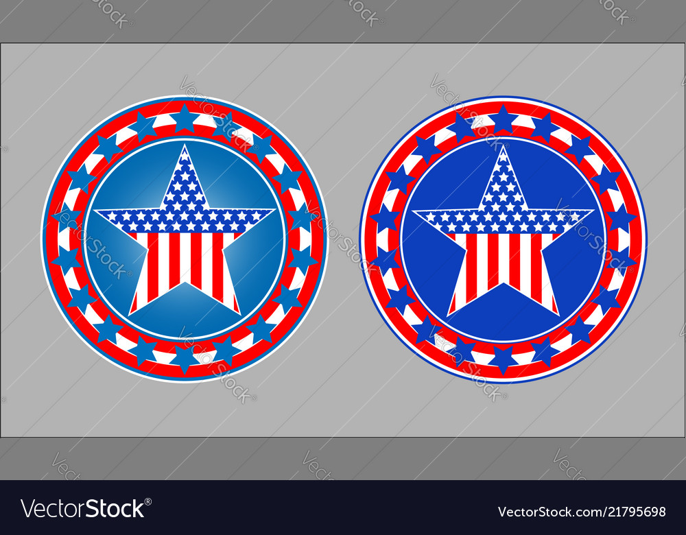 American patriotic star symbol