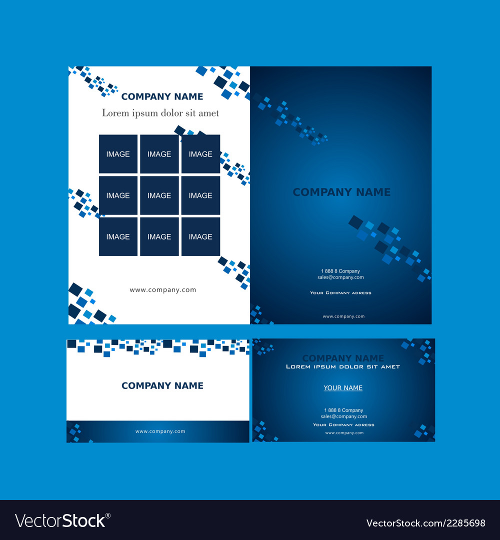 Brochure And Business Card Template