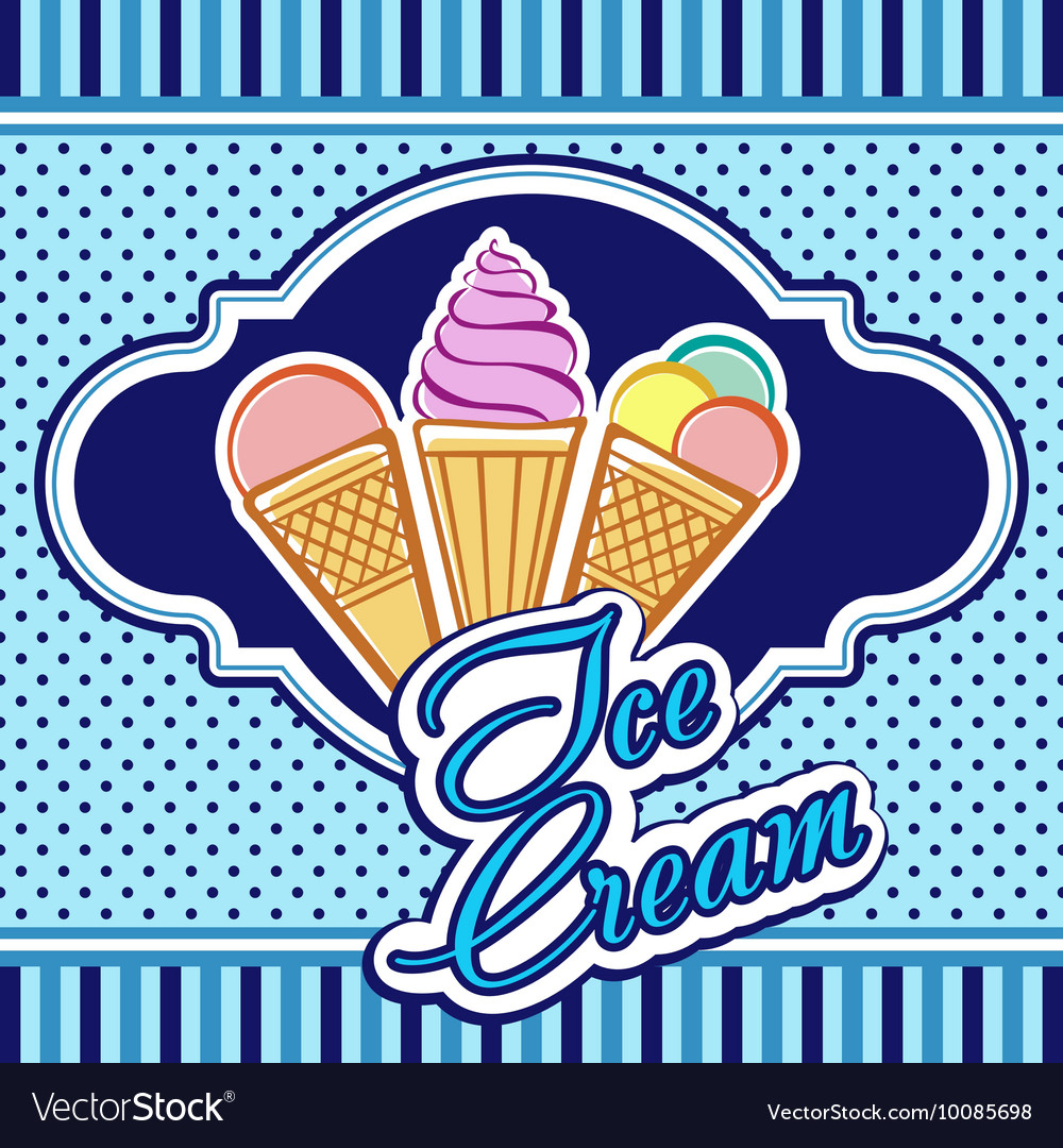 Card with ice-cream