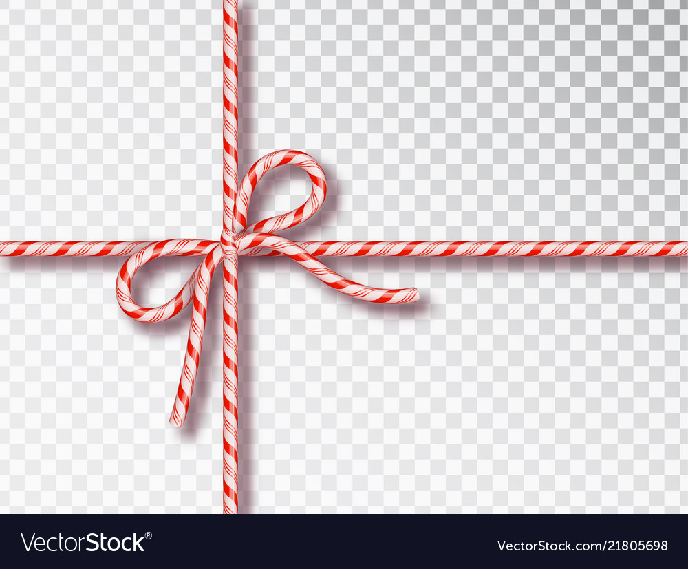 Christmas candy gift tying isolated blank
