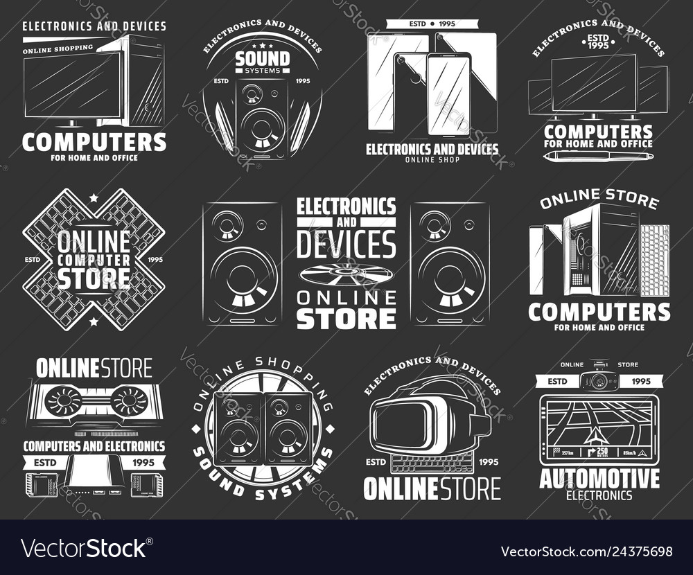 Devices and gadgets electronics icons