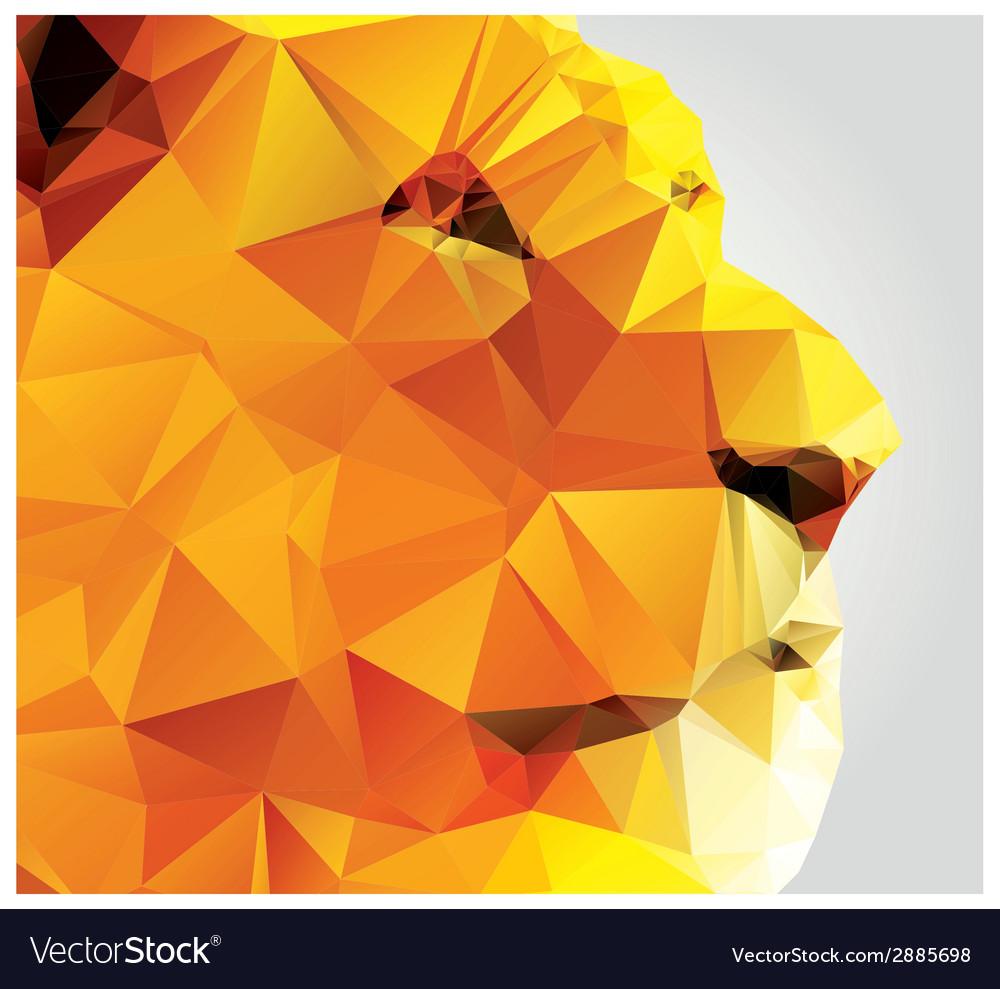 Geometric polygon lion head triangle pattern