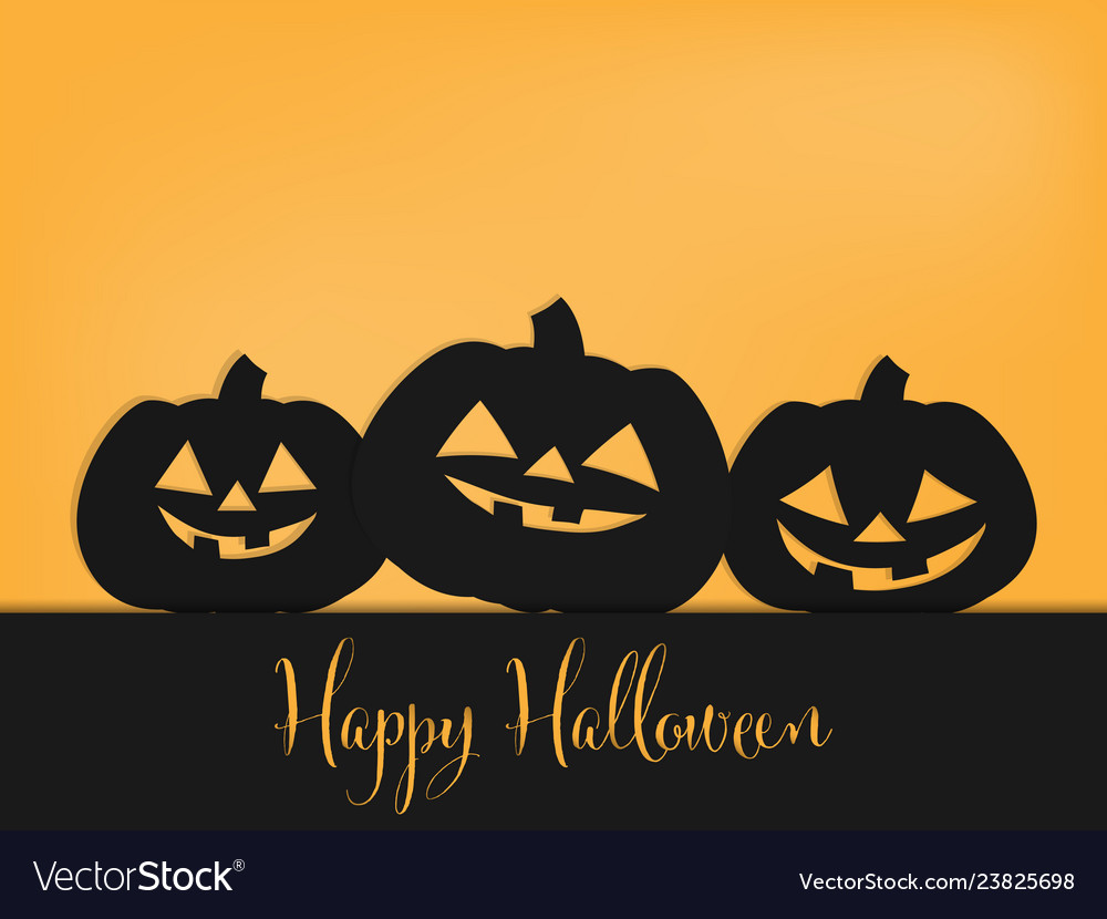 Halloween background with happy halloween text