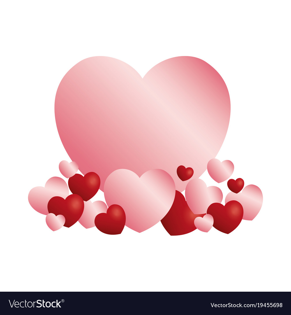 Hearts and love icons vector image