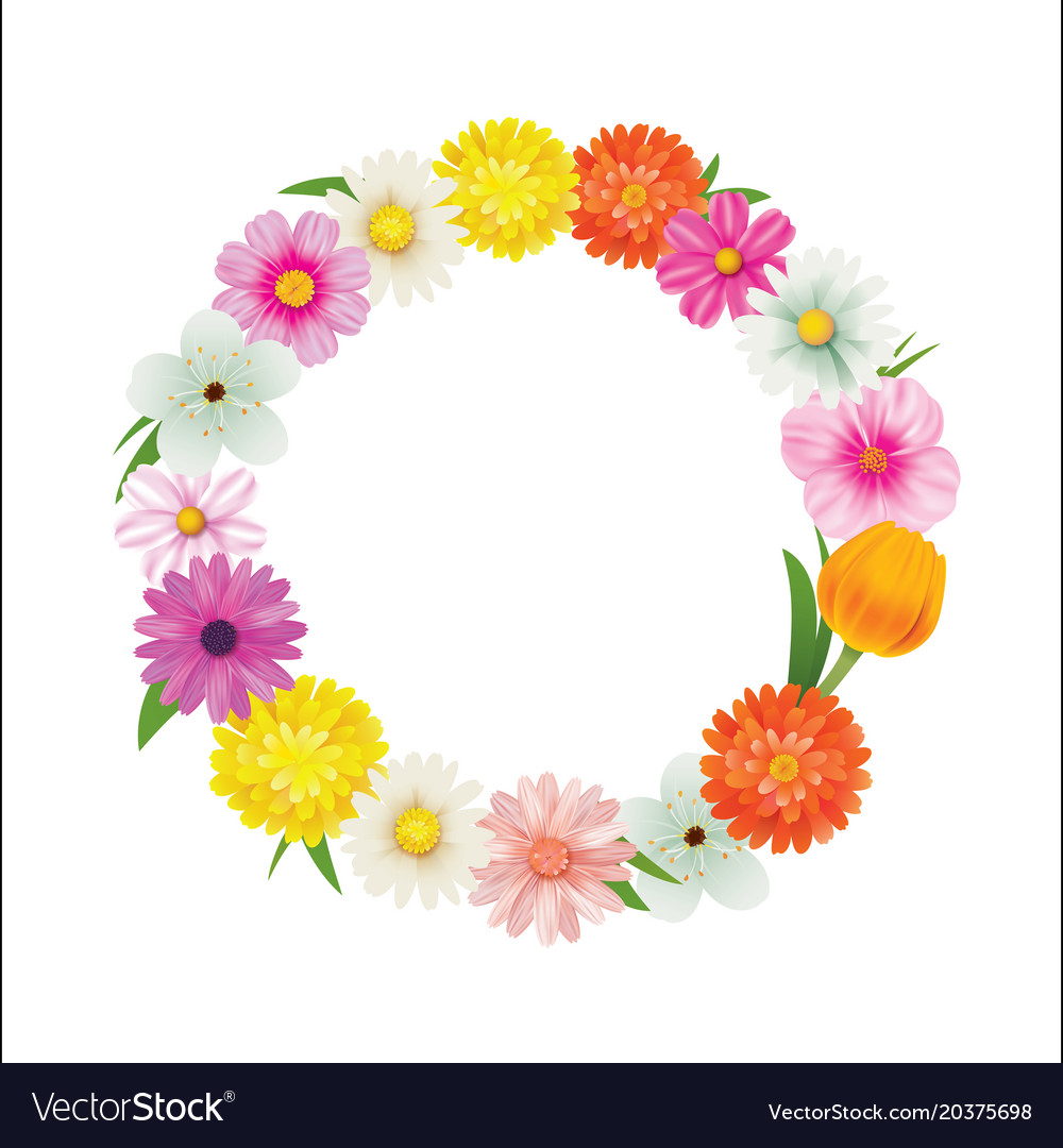 Hello spring circle frame greeting card and