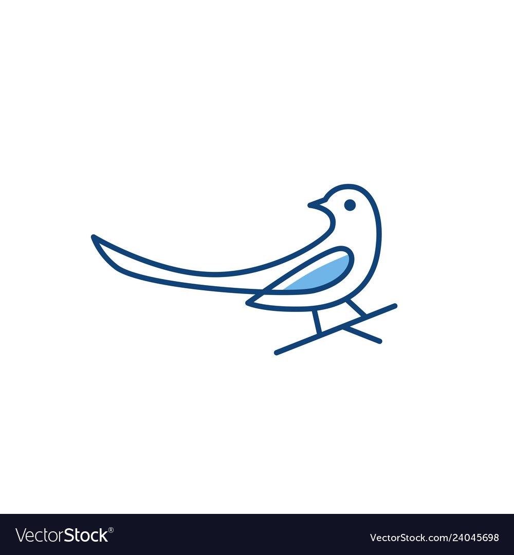 Magpie bird logo icon