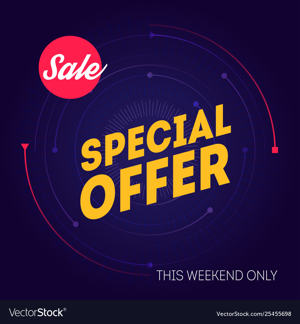 Sale banner template special offer this weekend