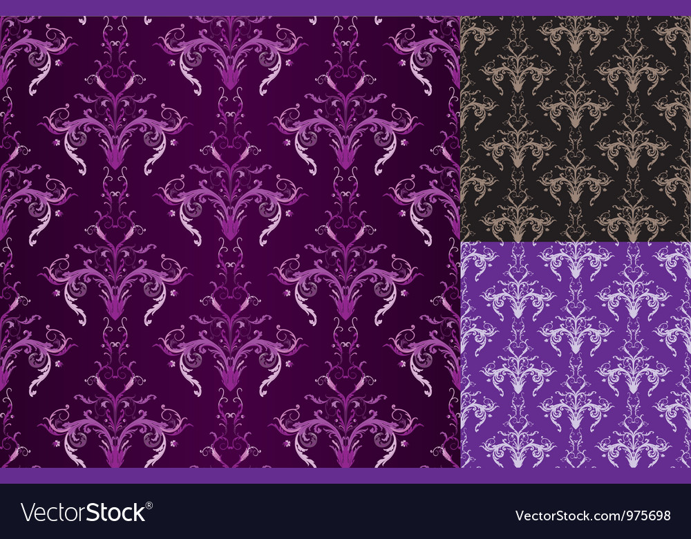 Set of sesmlesses vector image