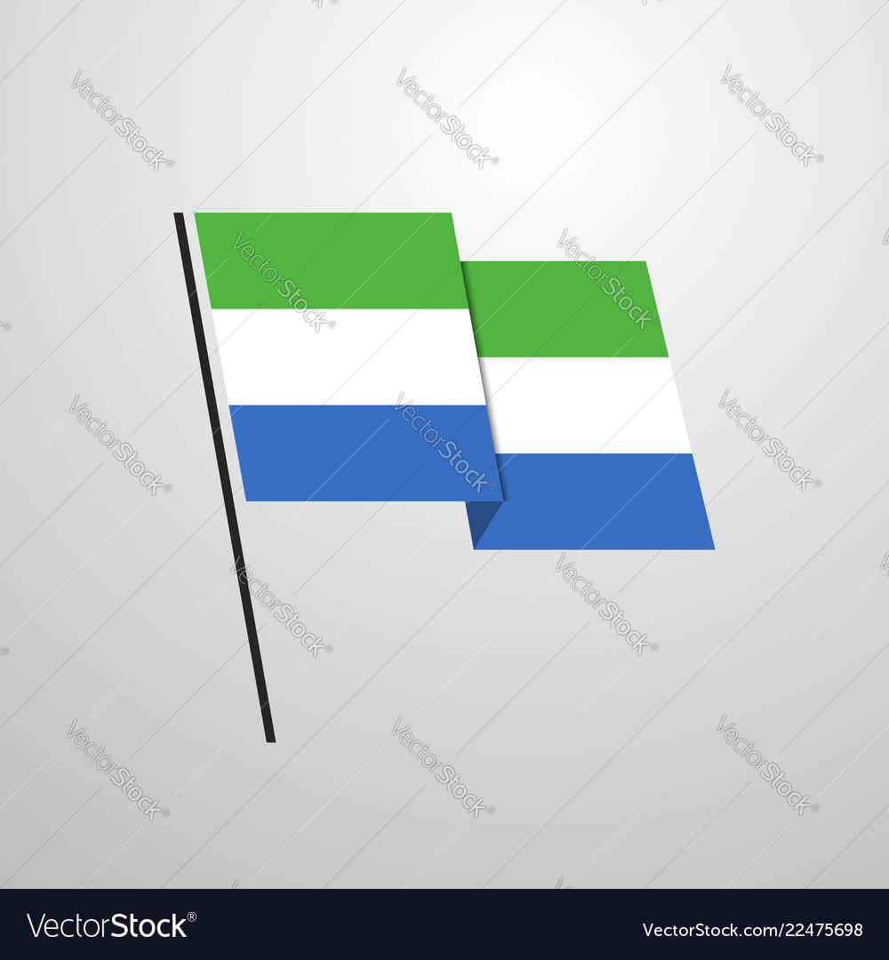 Sierra leone waving flag design background