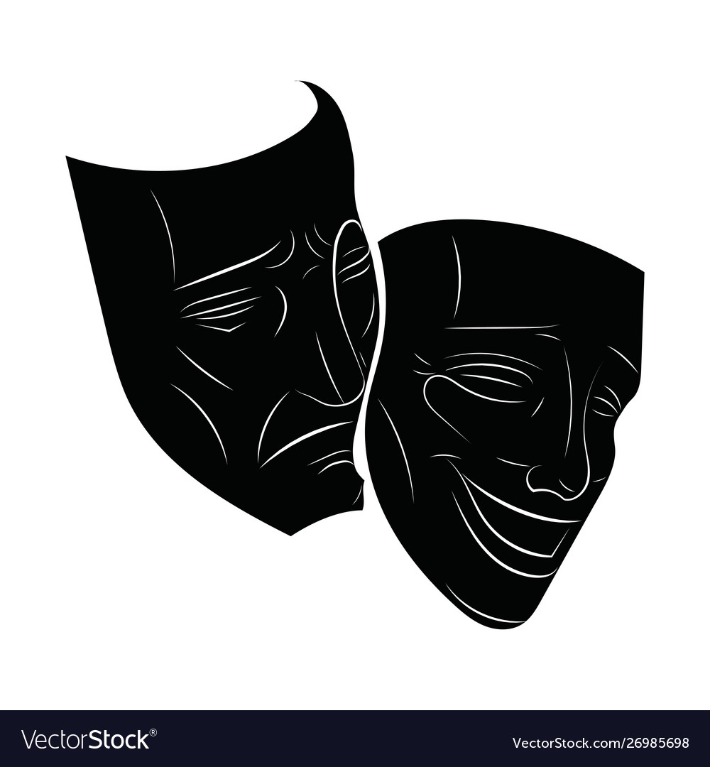 Theatre Masks Drama And Comedy Royalty Free Vector Image Free for commercial use no attribution required high quality images. vectorstock