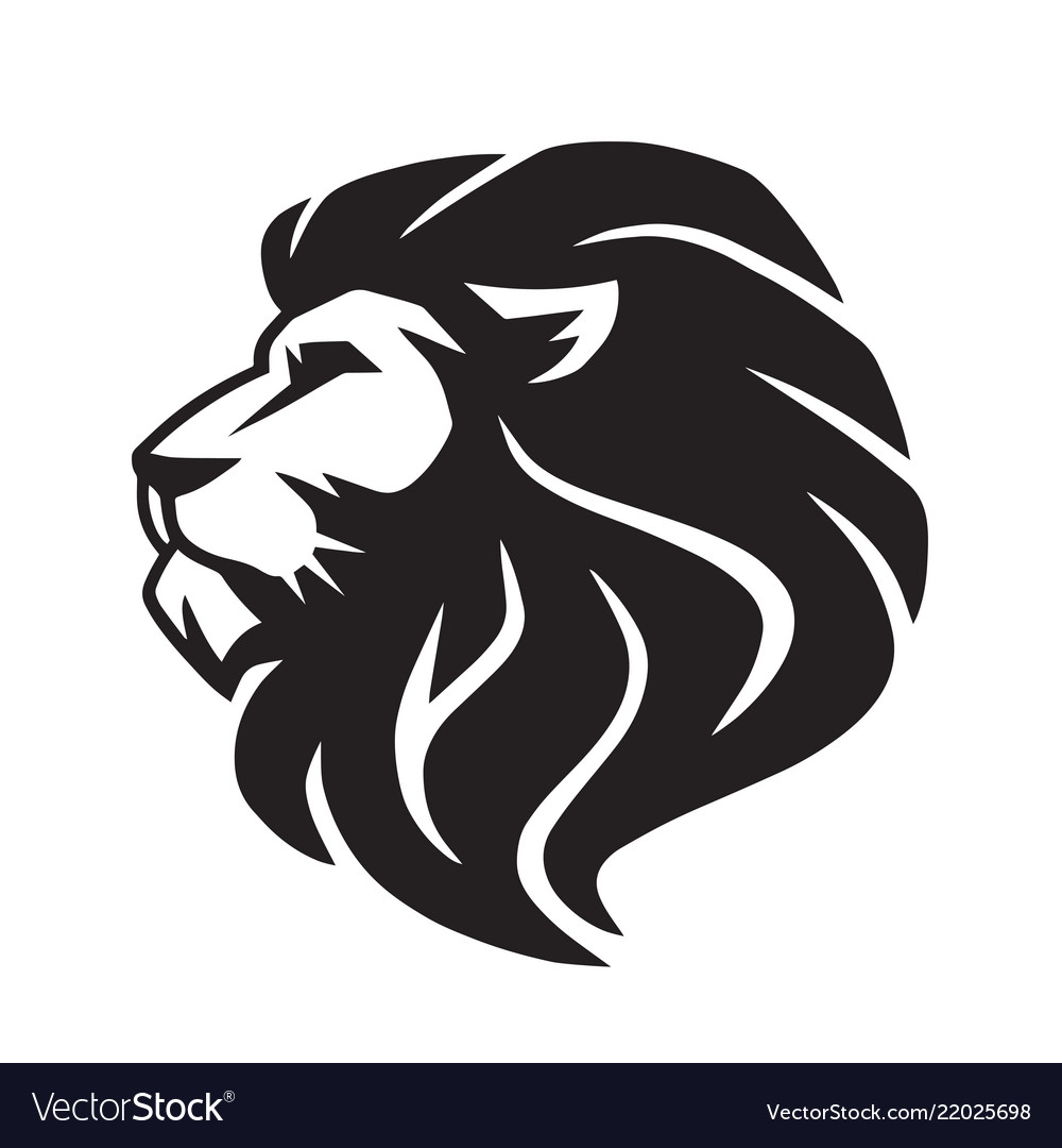 wild lion icon logo template royalty free vector image