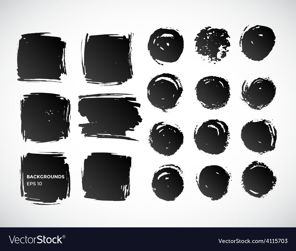 Brushstroke banners ink spot backgrounds