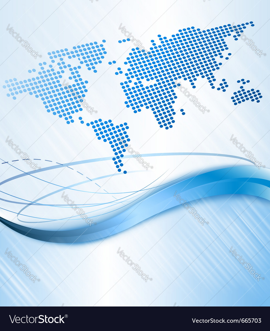 Business abstract background with world map vector image gumiabroncs Image collections