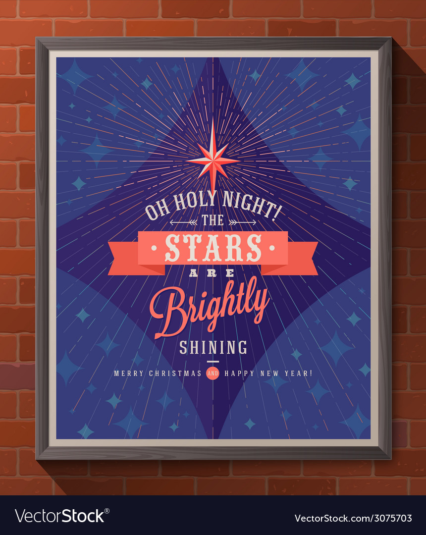 Christmas poster with type design vector image
