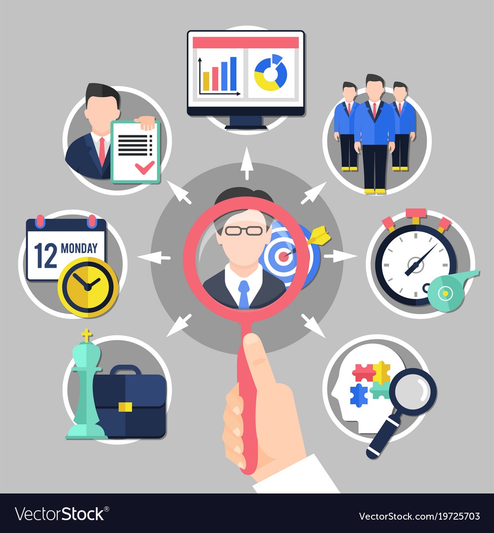 Coaching and business concept vector image