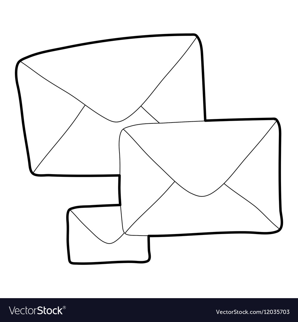 Letter icon outline style