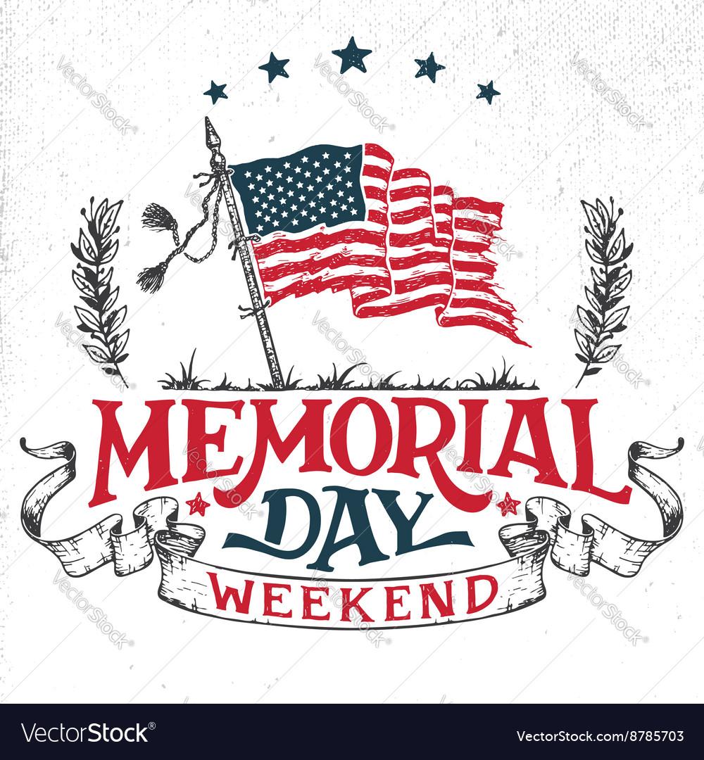 Memorial day weekend greeting card