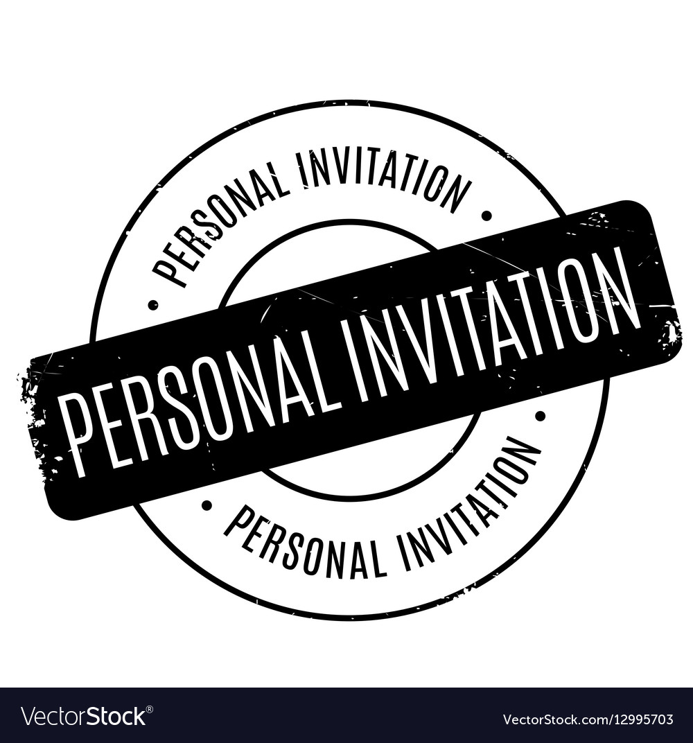 personal invitation rubber stamp royalty free vector image