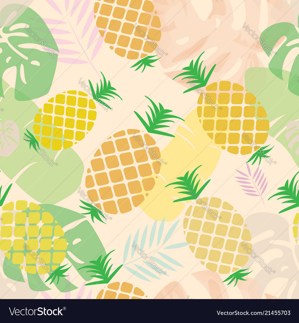 Pineapple seamless pattern for textile design