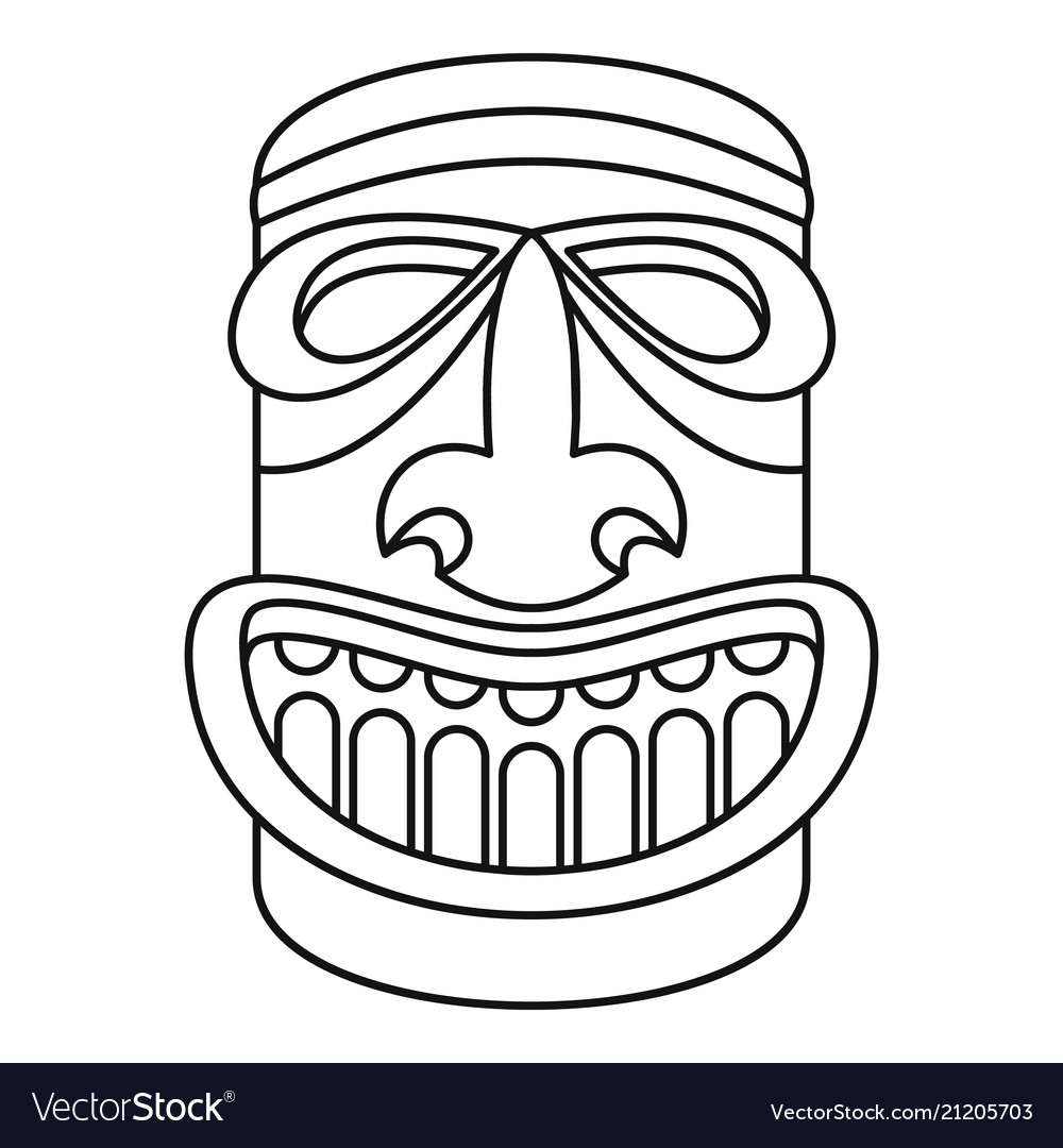 Wood idol icon outline style