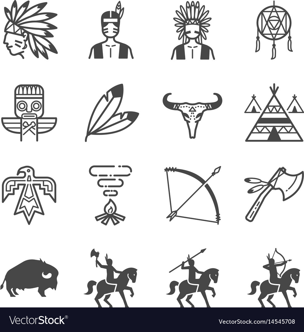 American indian tribe icons