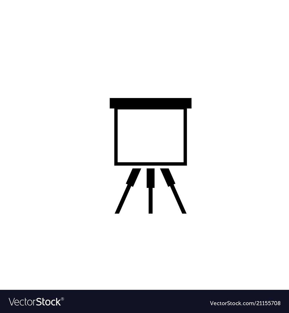 Artist easel flat icon
