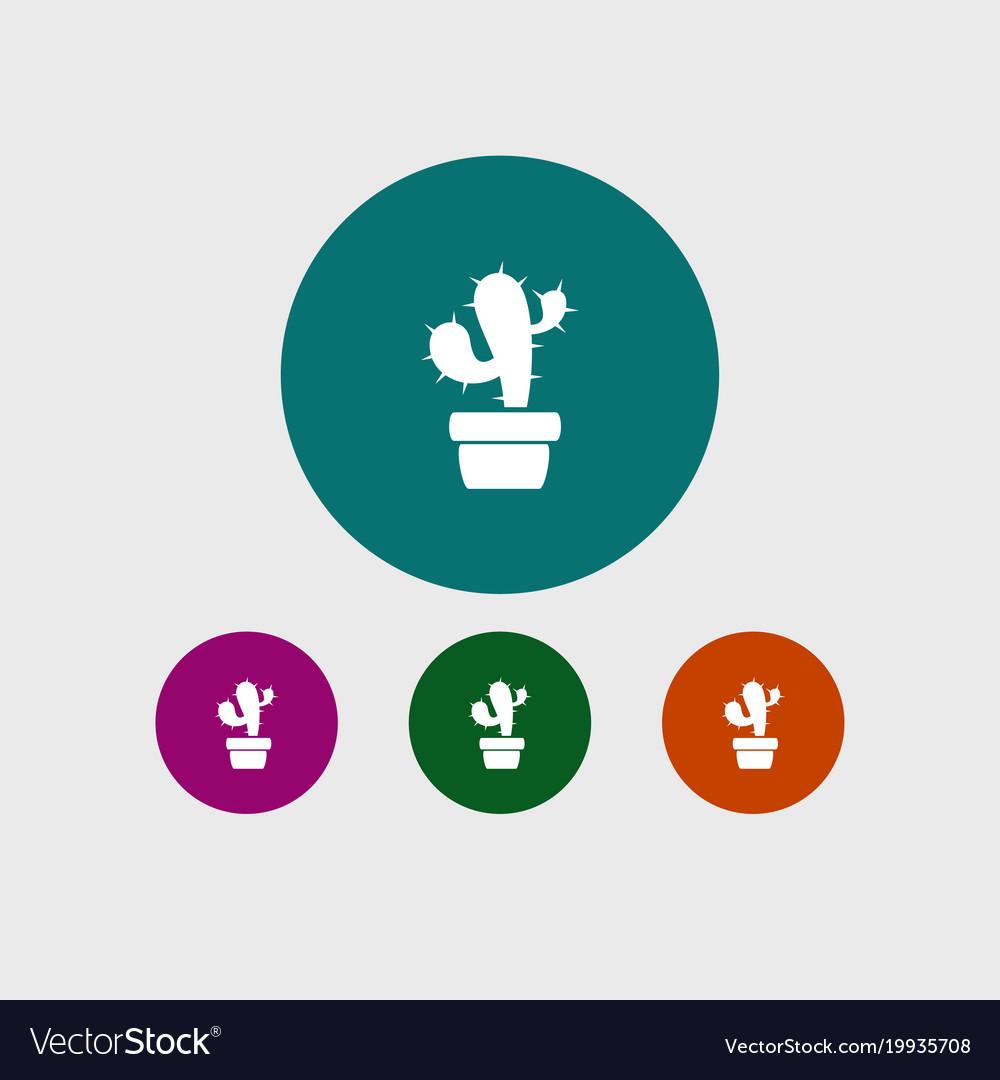 Cactus icon gardening