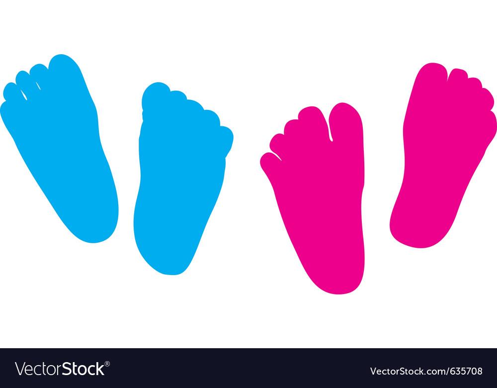Child feet silhouette