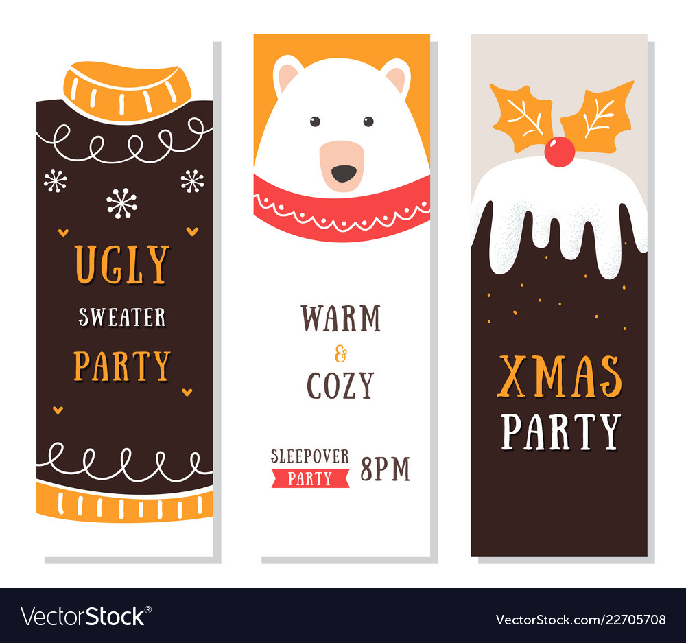 Christmas flyers cards and invitations ugly