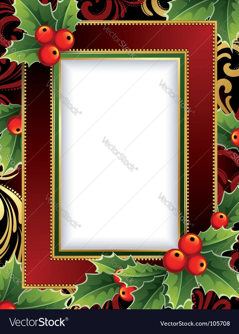 Christmas frame Royalty Free Vector Image - VectorStock