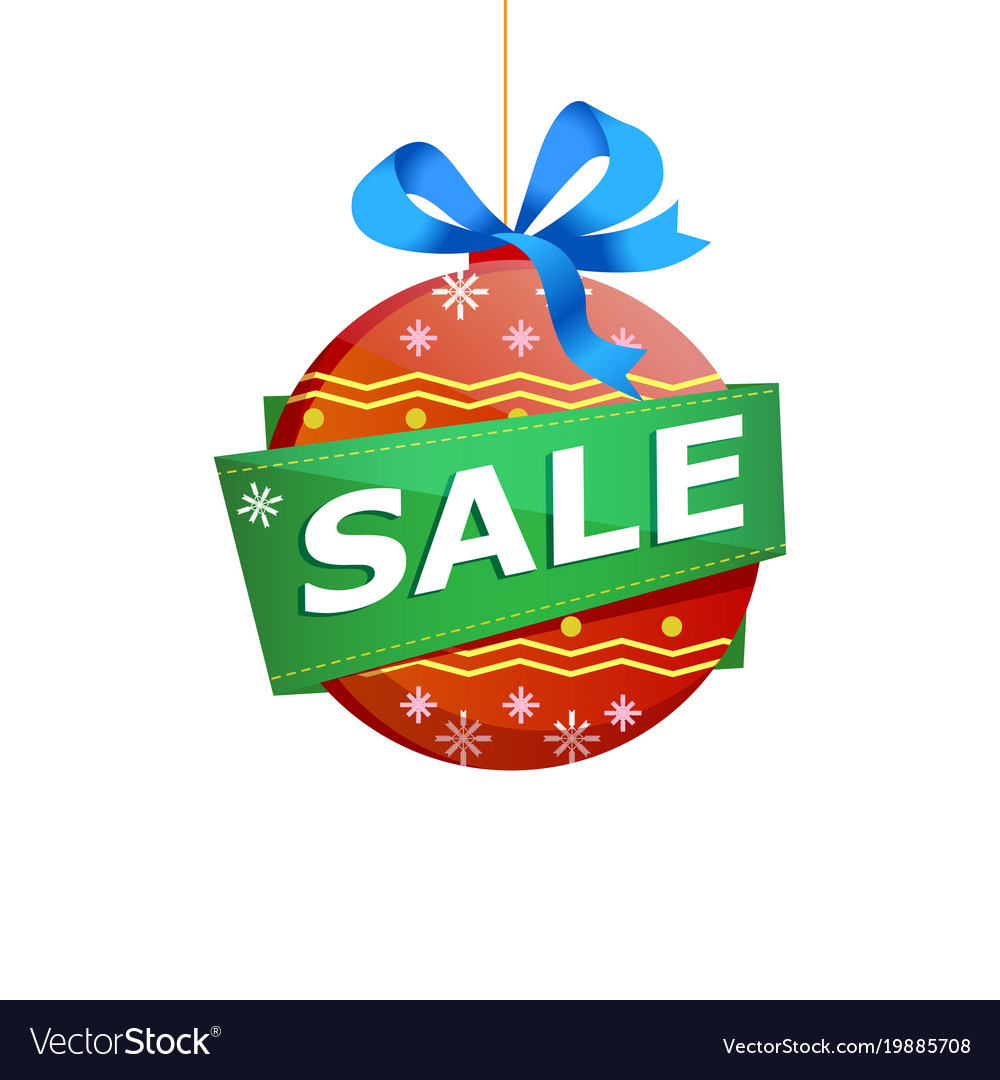 Christmas sale isolated sticker